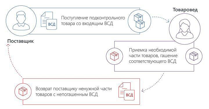 Схема обращения электронных ВСД