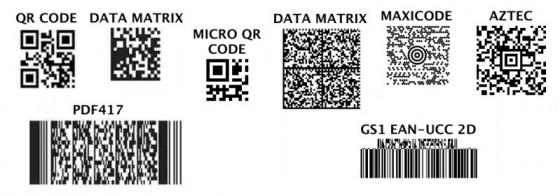 Распространенные разновидности двумерных штрих-кодов