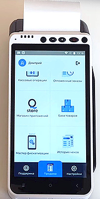 Сенсорный экран кассы-гаджета aQsi