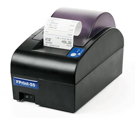 Фискальный регистратор FPrint-55 напечатал кассовый чек