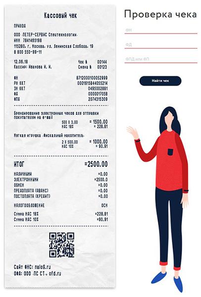 Проверка кассового чека в ОФД.Ру