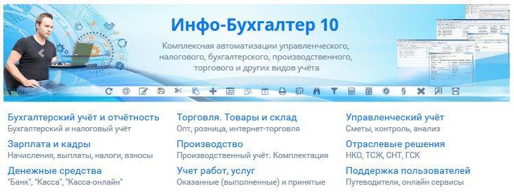 программное обеспечение Инфо-Бухгалтер 10 также подойдет для розничного магазина