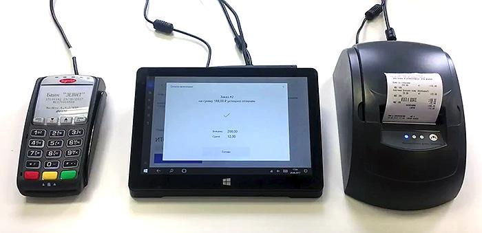 онлайн-касса и дополнительное оборудование в комплекте