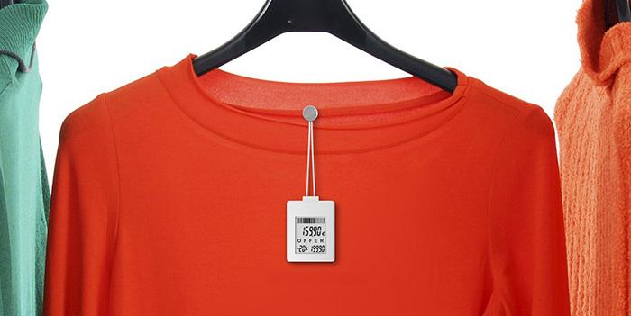 цифровой ценник на одежде
