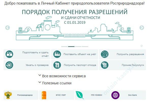Росприроднадзор: сдача отчетности в электронном виде через личный кабинет