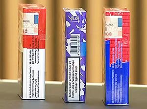 пачки сигарет и маркировка