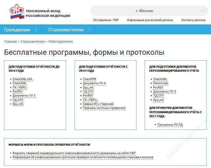 электронная отчетность в ПФР: выбор ПО