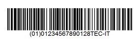 штрих-код GS1-128