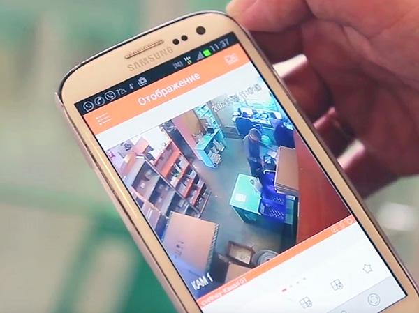 система видеонаблюдения для магазина с просмотром через интернет на смартфоне