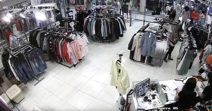 установить камеры видеонаблюдения в магазин одежды