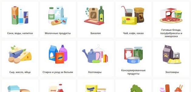 категории товаров на полке.ру