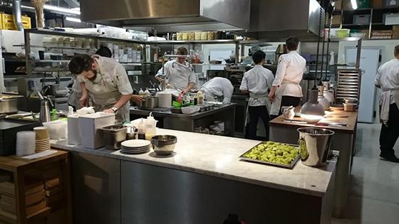 кухня ресторана как производственный блок