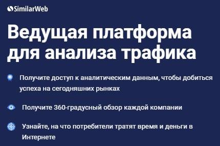 онлайн-сервис SimilarWeb для анализа продажи товаров в интернете